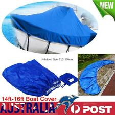 NEW Heavy-Duty Waterproof 210D Trailerable Jumbo Boat Cover Protect 14ft-16ft AU