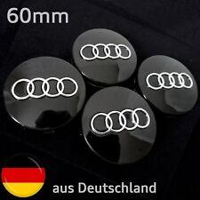 Nabendeckel Felgendeckel für Audi 60mm Schwarz Emblem Motorsport  Nabenkappen