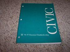 1996-1997 Honda Civic Electrical Wiring Diagram Manual CX DX HX EX LX