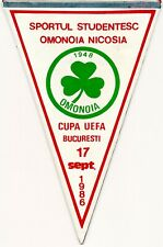 Omonia Nicosia Pennant Sportul Studentesc Romania Football Champions League 1986