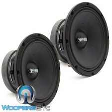 "PAIR SUNDOWN AUDIO SXMP-8 4-OHM 8"" 250 RMS MIDRANGE CAR DRIVER MIDS SPEAKERS NEW"