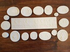 17 Grand Tour Cameos Intaglios Medallions plaster Tassie Seals Hunting scenes