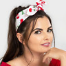 Hell Bunny Sweetie Cherry Hair Tie Scarf Cotton Pin Up 50s Rockabilly Retro Head