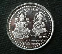 GODDESS LAKSHMI and GOD GANESH SILVER COIN 999 PURE APPOX.10 GRAMS