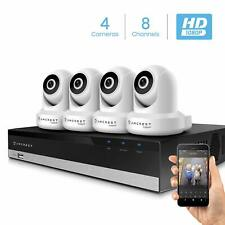 Amcrest 2MP Security Camera System 4K 8CH NVR 4 x 2MP Dome WiFi IP IP2M-841W