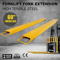 60''x 5.8'' Forklift Pallet Fork Extensions Pair Lift Truck Lengthen