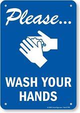 "SmartSign ""Please Wash Your Hands"" Sign | 7"" x 10"" Plastic"