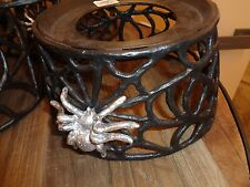 Pottery Barn spider web dispenser stand  Halloween  New