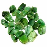 51.20Cts Natural Brazil tiny Green Emerald Loose Gemstone Rough Specimen Lot