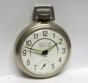 Vintage Westclox Pocket Ben Watch with Night Glow