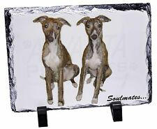 Whippet Dogs 'Soulmates' Photo Slate Christmas Gift Ornament, SOUL-65SL