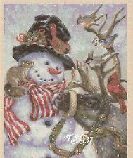 Christmas Cross Stitch Chart - Snowman & Reindeer -No 362.TSG37