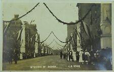 .RARE SYDNEY MACQUARIE ST H.R.H. PRINCE OF WALES 1920 VISIT CELEBRATION POSTCARD