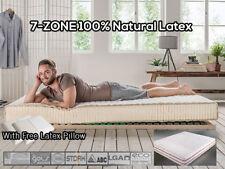 7-ZONE Organic 100%25 Natural Latex topper/mattress + free Latex Pillow