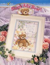 SHARE MY BEAR? TEDDY BEAR CROSS STITCH Pattern ~ NEW