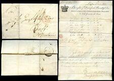 Gb 1805 Corona Cameo billhead Agujas pescado ganchos durnford baratty Londres a Banff