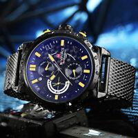 Naviforce 9068 Stainless Steel Luxury Week Date Business Men Sport Quartz Watch