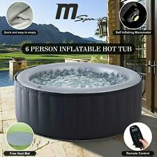 Mspa Inflatable Hot Tub Portable Spa Jacuzzi Home Holiday Family Fun 6 Peoples