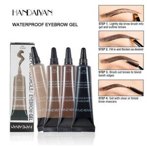 Eyebrow Tint Henna Dye Gel Long Lasting Waterproof with Brush Six Colours UK Hot