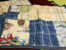 Pottery Barn Kids Surfside Quilted Standard Shams Laguna (2) Beach Theme  EUC