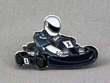 Metal Enamel Pin Badge Brooch Go Kart Cart Karting Racing Sport Formula Racing