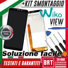 LCD+TOUCH SCREEN VETRO ASSEMBLATI PER WIKO VIEW DISPLAY VETRO NERO 5,7'' 24H+KIT