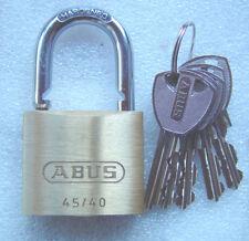 ABUS 45/40 5 Schlüssel  Vorhängeschloss NEU