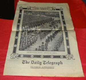 Original Vintage Newspapers relating to the death of King George VI