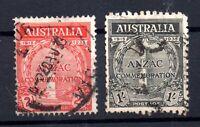 Australia 1935 Anzac fine used set SG154-155 WS16128