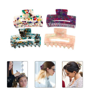 4pcs Exquisite Decorative Elegant Headdress Hair Claw for Girls Ladies