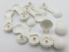 LEGO LOT OF 10 WHITE CLAM OYSTERS SEA LIFE SHELLS PIECES ANIMALS PARTS