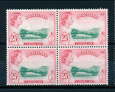 SWAZILAND 1961 DEFINITIVES SG86 25c BLOCK OF 4 MNH