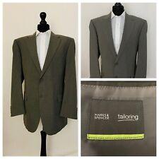 Marks & Spencer Mens Suit Jacket Blazer Chest 44 Long Grey  OR251