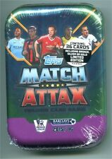 2015/2016 Topps Match Attax English Premier League Soccer Card Tin 36 Cards w/LE