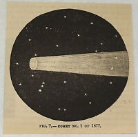 small 1881 magazine engraving ~ COMET NO. 2 of 1877