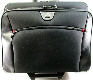 """Swiss Gear Travel Roll Case Black Handle Extend 26""""16.5"""" Wide 13.5"""" Tall 8"""" Deep"""