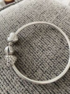 Pandora Bangle With 2 Mum Charms . Mum In A Million Charm. Mum Of The Year Charm