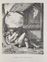 Agostino Carracci Erotik Penis Akt Vagina Paris Oinone Nymphe Antike Mythologie