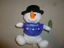 NEW W TAG SNOWMAN CHRISTMAS PLUSH TOY NWT SUGAR LOAF TOYS SNOWFLAKE SWEATER
