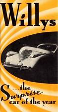 VINTAGE 1937 WILLYS SURPRISE CAR OF THE YEAR DEALER ADVERTISING BROCHURE MINT