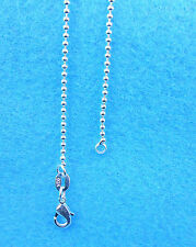 1PCS 16 inch Wholesale jewelry 925 Silver Plated Beads Ball Chain Necklaces NEW