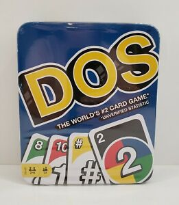 NIB DOS Tin Card Game The World's Number 2 Card Game From the Makers of UNO