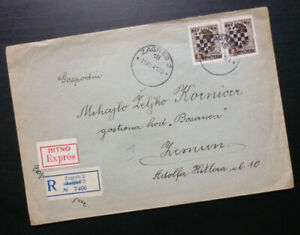 Croatia 1941 - NDH Cover WWII - Sent from Zagreb to Zemun Serbia A3
