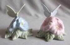 Salt & Pepper Shakers Lenox China Butterfly Meadow Butterflies on Flowers Design
