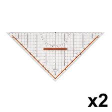 2 x ROTRING S0699270 Centro Professional 32cm Set Square