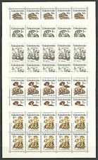 CSR 1989 Poisonous Mushrooms Complete Set of Miniature Sheets VF MNH!