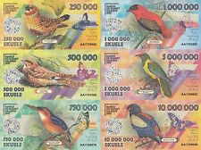 Elobey Grande Set of 6 banknotes 2017 UNC Private issue (20477)