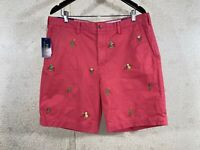 """POLO Ralph Lauren 9"""" Classic Fit Chino Shorts Embroidered Grasshopper Size 36"""