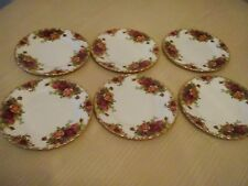 1960 's Royal Albert Old Country Roses breakfast/Salad plates x 6 (perfect )