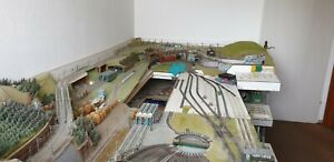 Modelleisenbahn Spur N  Komplettanlagen auf 2 Ebenen, gebrauchter Zustand